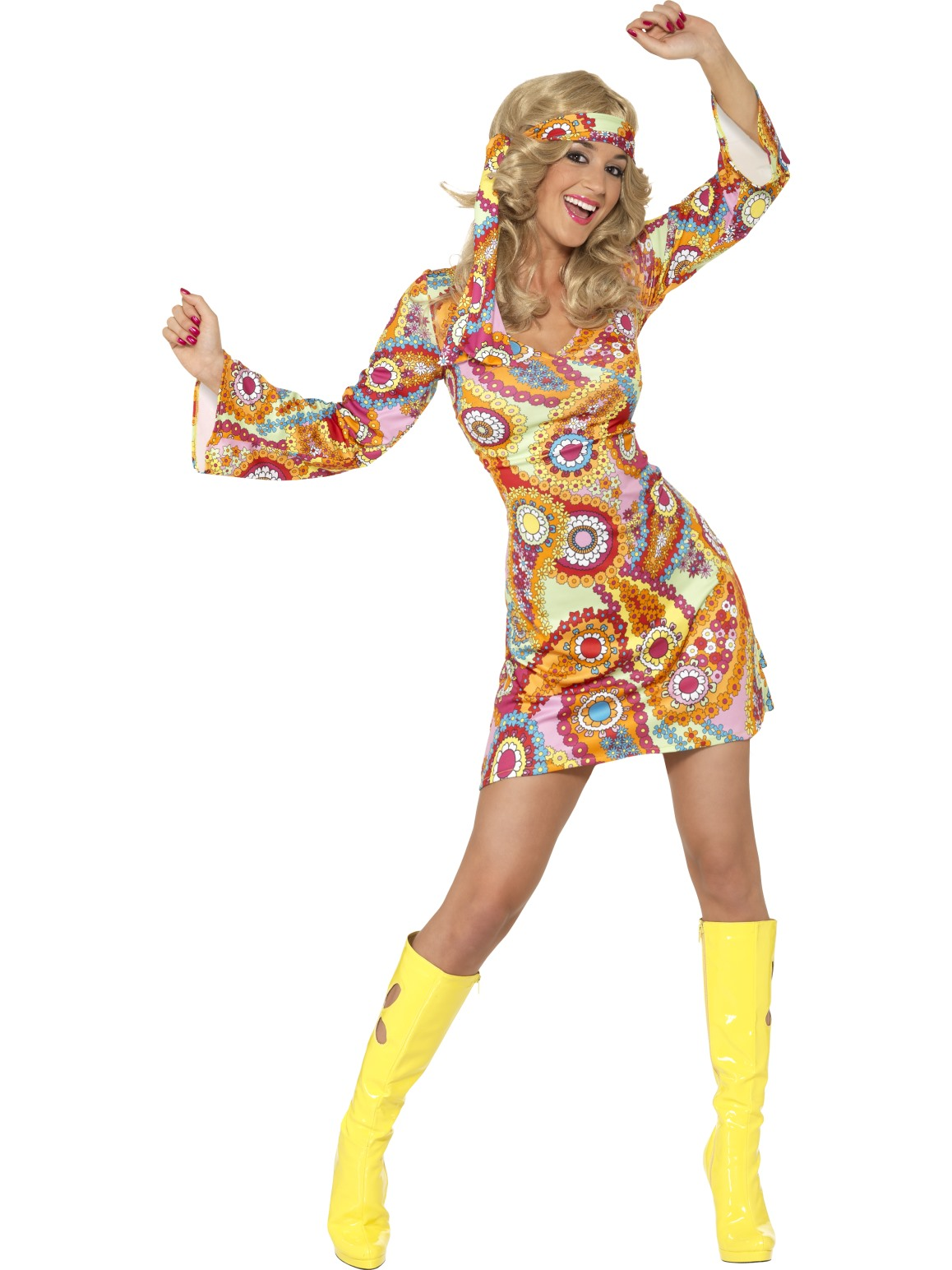 80s Party Leg Avenue 8-14 Disco Chick Costume 70/'s 60/'s Retro Groovy Dress